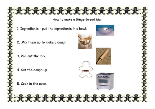 Writing template for making a gingerbread man by for Net making instructions