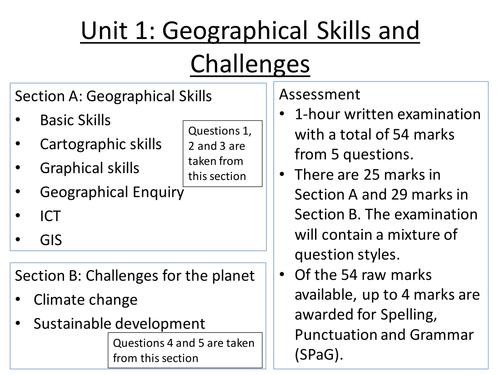 AQA GCSE Geography Skills Workbook by arowlandson Teaching – Geography Skills Worksheets