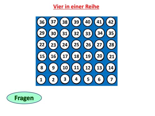 Vier in einer Reihe - GCSE German vocab revision
