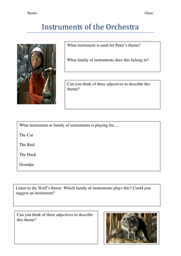 Peter And The Wolf By Maceyj Teaching Resources Tes