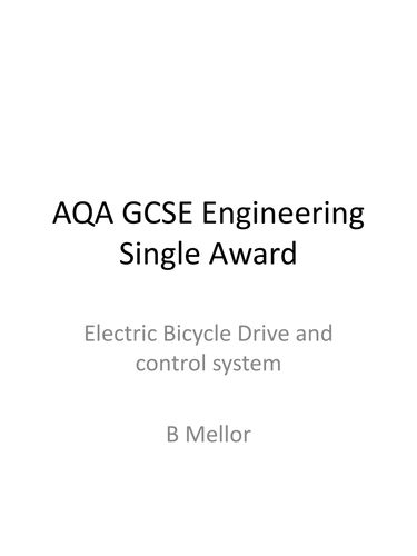 Bicycle Drive systems