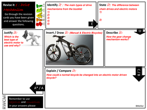 Revise it test - drive mechanisms