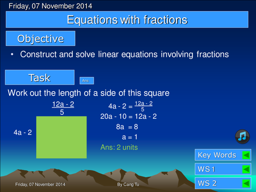 Equations with fractions grade D-B