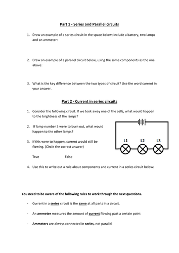 Current And Volatge In Series And Parallel Circuit By Miss Tee