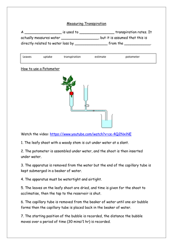 How to Measure Transpiration