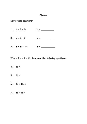 algebra worksheet by bjj12 teaching resources. Black Bedroom Furniture Sets. Home Design Ideas
