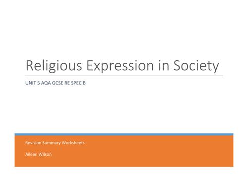 UNIT 5 AQA GCSE RE (spec b) RELIGIOUS EXPRESSION I