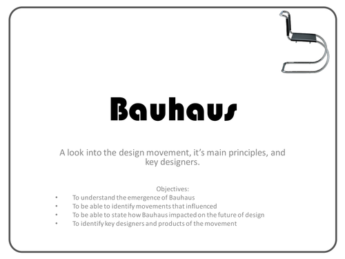 the bauhaus design movement by gemmahill84 teaching. Black Bedroom Furniture Sets. Home Design Ideas