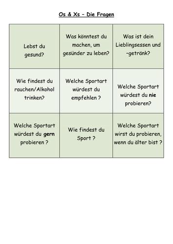 KS4 German Freizeit Gesundheit modals/Q&A
