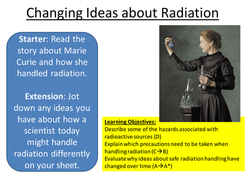Radioactivity - Edexcel P2 Changing Ideas