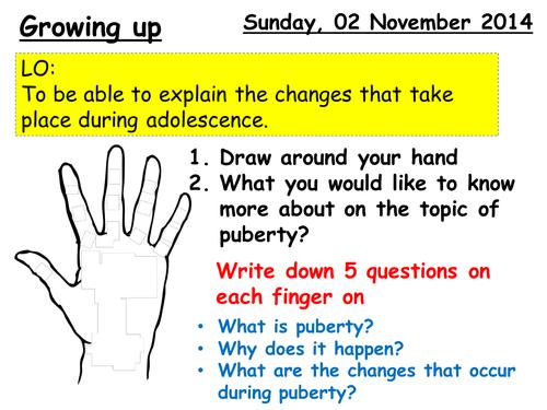 KS3 - Lesson 6 - Puberty