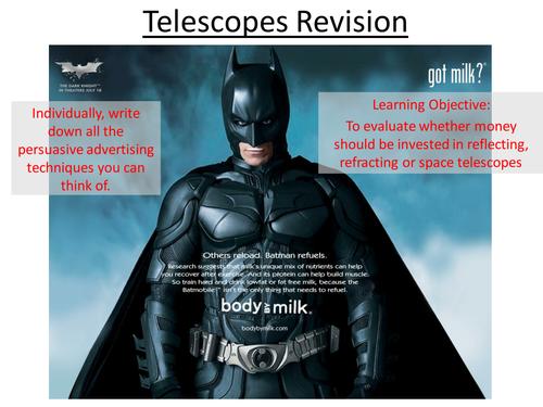 Edexcel P1 Telescopes Revision