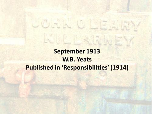 september 1913 essay