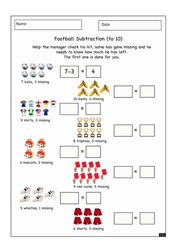 Football Themed Numeracy Worksheet