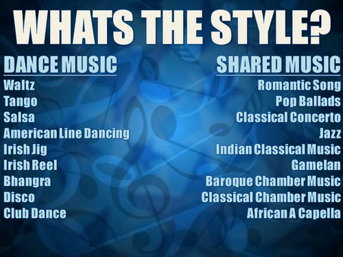 OCR Music GCSE Listening - Styles and Features
