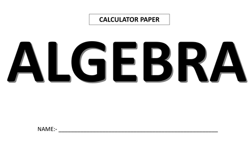 Maths Revision by Topic (Calculator paper) by CalcJay