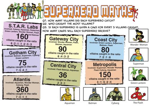 superhero ratio sharing by dooranran teaching resources. Black Bedroom Furniture Sets. Home Design Ideas