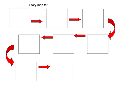 Blank story map to help with oral story telling by byjingo
