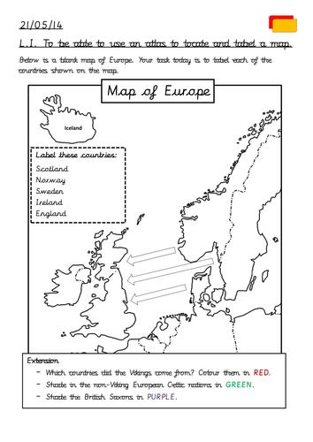 Viking Invasion Map By Eddiekenz Teaching Resources Tes