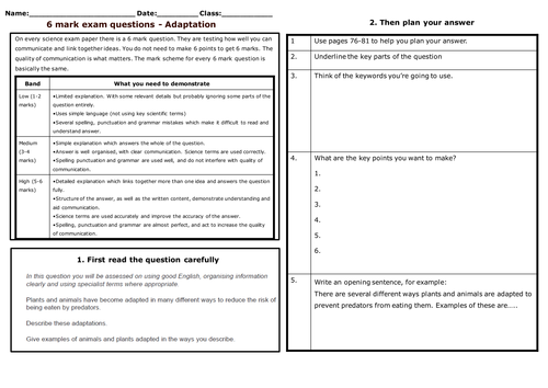 Animal and plant adaptation by Lundi Teaching Resources Tes – Plant Adaptations Worksheet