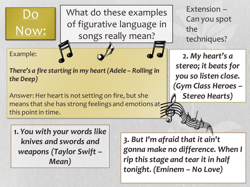 Year 7: Poetry SoW - Lesson 3