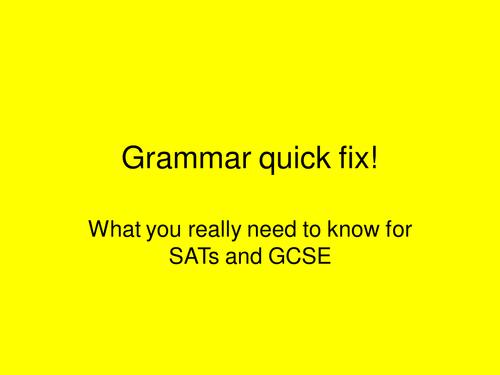 Revision of basic grammar skills