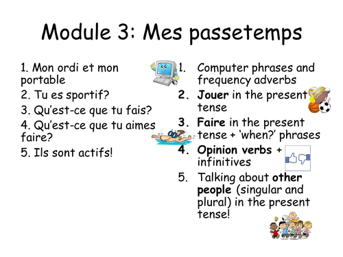 KS3 French Studio 1 Mes Passetemps Revision