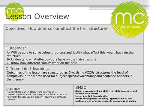 hairdressing colour lesson by traceymorley3 teaching resources tes
