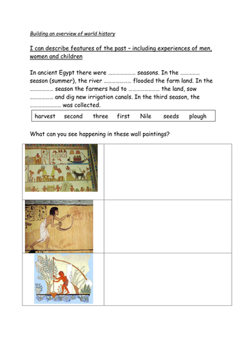 Farming in ancient Egypt by Liese131 | Teaching Resources