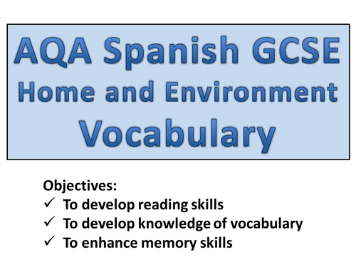 GCSE Spanish: Revision Starters
