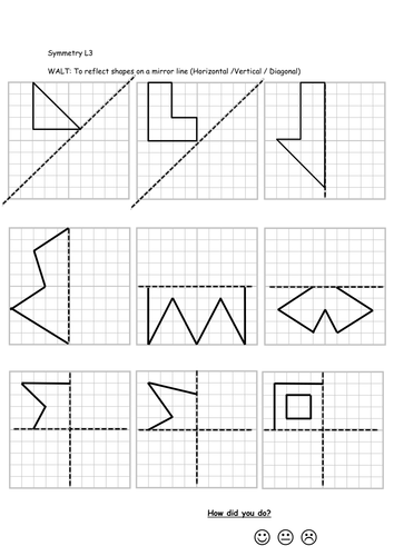Drawing Lines Of Symmetry Worksheets : Reflective symmetry worksheets by callen teaching