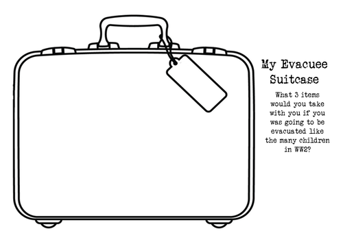 An evacuee 39 s suitcase by dianefinch teaching resources tes for Evacuation label template