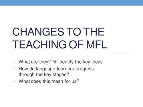 Changes to MFL teaching