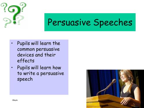 How to write persuasive speeches