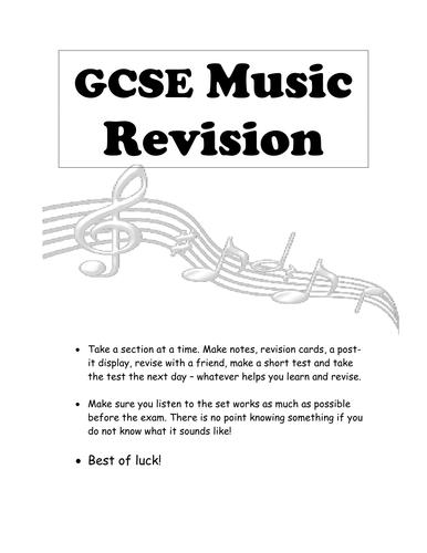 GCSE Edexcel Music Revision Guide