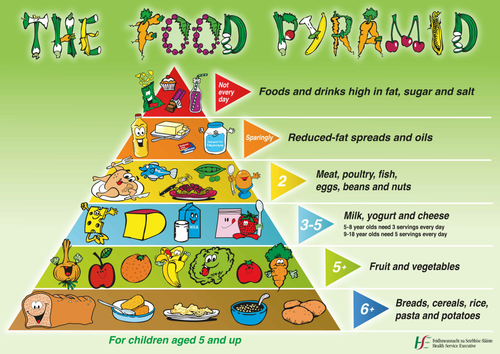 Poster - Continuous Provision : Food Pyramid