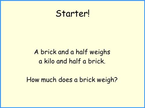 Solving equations using the balancing method