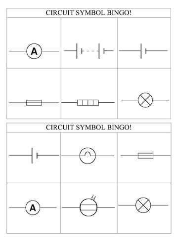 circuit symbol bingo by edmdas1 teaching resources tes. Black Bedroom Furniture Sets. Home Design Ideas