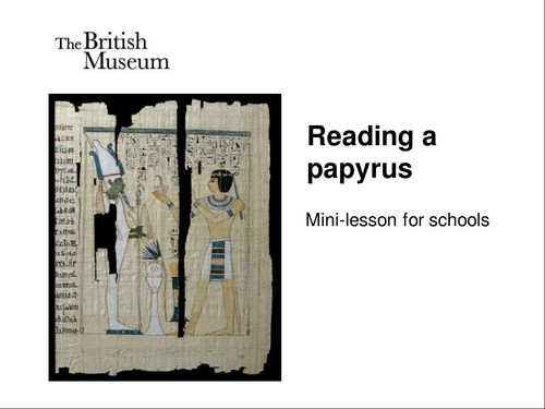 Reading a papyrus