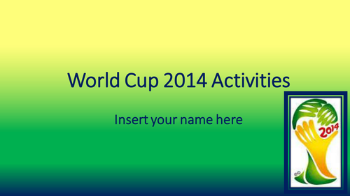 World Cup 2014 Activities