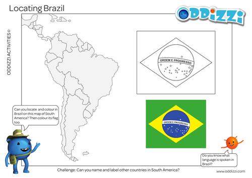 Brazil Flag Worksheet