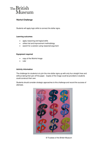 Activity: Warhol Challenge