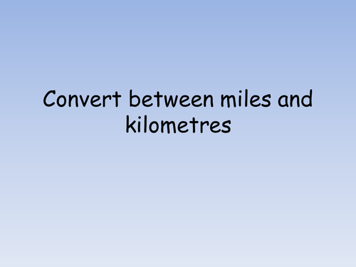 Miles to kilometres racetrack conversion task