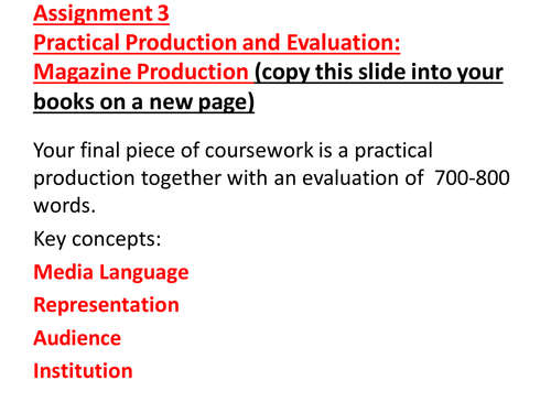 as level media studies coursework evaluation