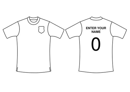 World Cup football strip templates