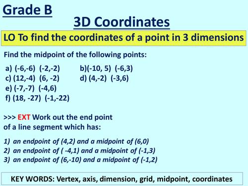 3D Coordinates Lesson