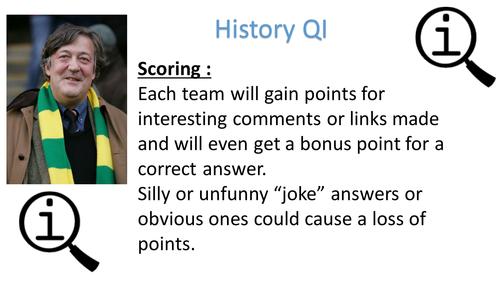 QI - 'Quite Interesting' History Quiz