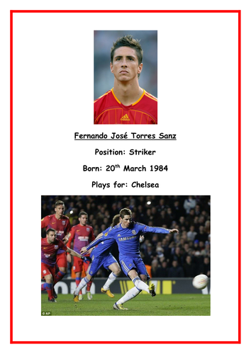 World Cup 2014 Spain Squad Biographies