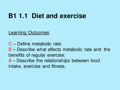 AQA Core Biology Diet and exercise Ppt