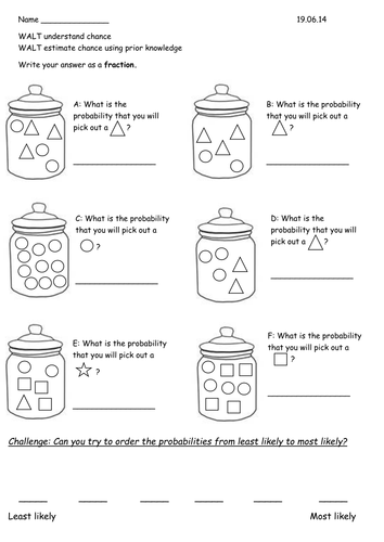 year 2 probability chance worksheets by rebeccaremnant teaching resources. Black Bedroom Furniture Sets. Home Design Ideas